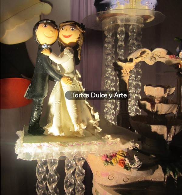 Torta Novios Locos Bodas Matrimonio Muñecos dulce y arte