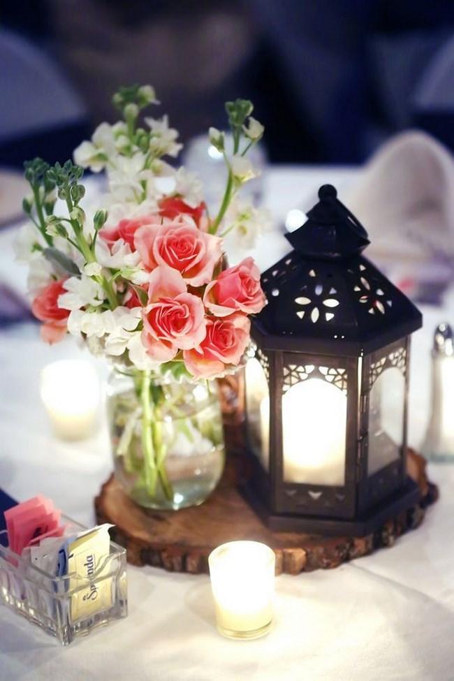 Centros de mesa con faroles para boda Centros de Mesa