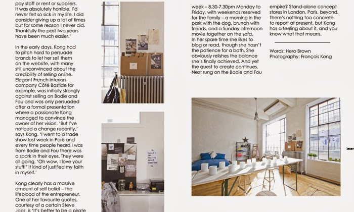 BODIE and FOU's offices and Founder Karine Kong in CURIO magazine