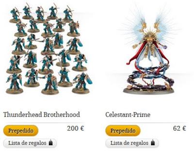 Pre-pedido de Celestant-Prime yy Thunderhead