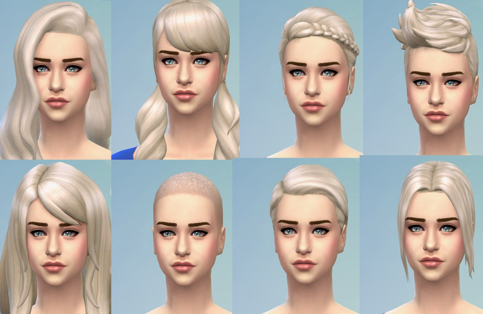 soccer hairstyles for girls : My Sims 4 Blog: Targaryen Blonde - New Colour for All Teen to Adult ...
