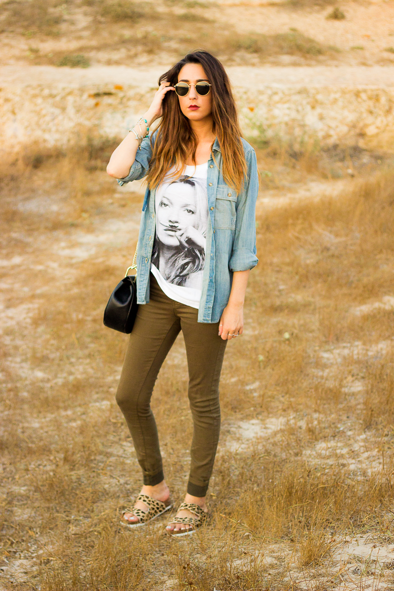 kate moss t shirt by eleven paris   shoes and basics