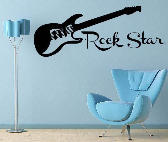 Rock bedroom decor