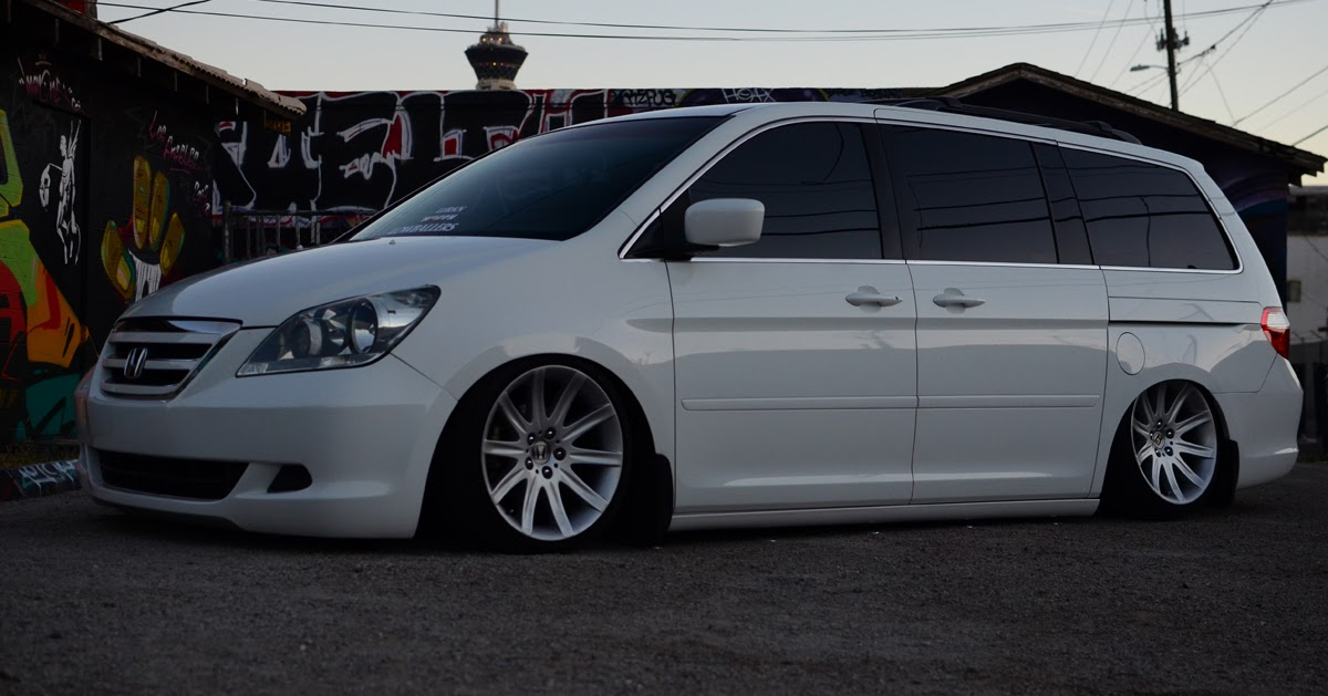 jimmy franco s bagged honda odyssey on bmw 7 series wheels stay stanced   low cars high class