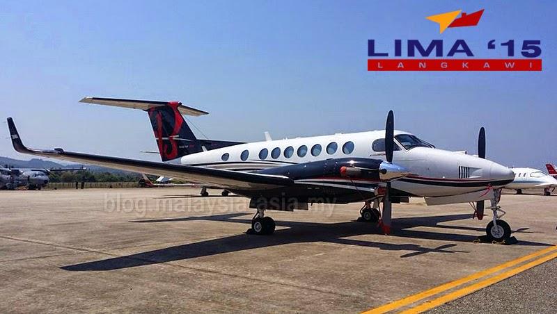 LIMA 2015 Beechcraft King Air 350i Plane