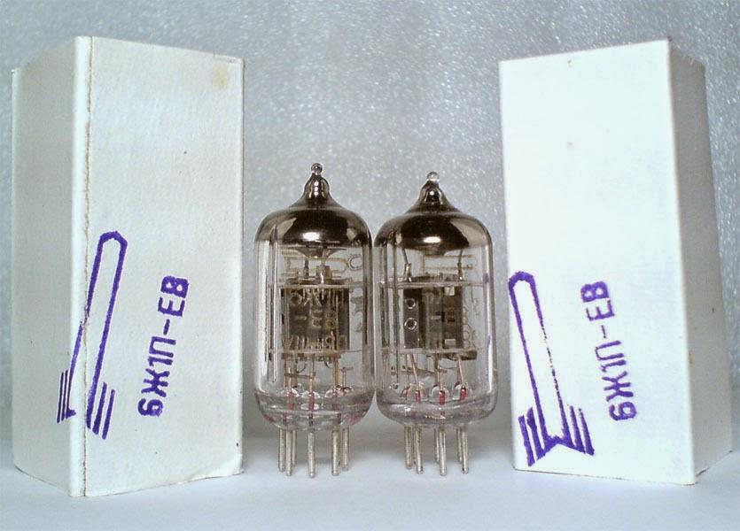 6J1P-EV=EF95 MATCHED PAIR tubes VOSKHOD Gold Grid Year 1981 for Little Dot MK II