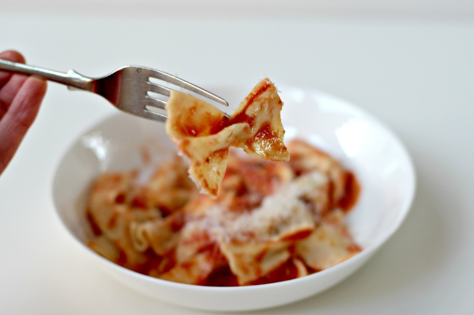 ... and Honey: Home Made Farfalle with Porcini, Mascarpone Tomato Sauce
