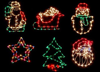 Christmas Tree Santa Light Decoration Ideas Style