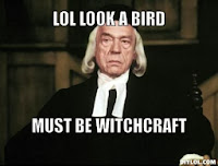 Puritan: LOL, a bird. Must be witchcraft.