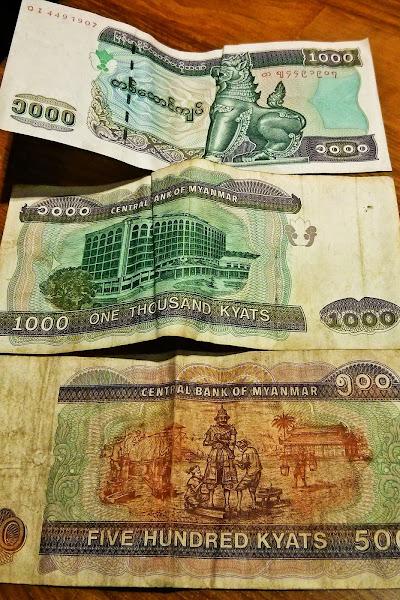 Billetes de Kyat Birmanos