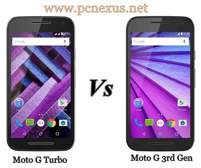 Moto G 3rd Generation vs Moto G Turbo Edition