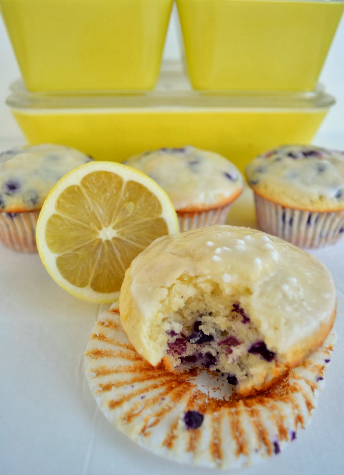 Lemon-Blueberry Muffins with Greek Yogurt