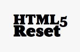 html5 reset css