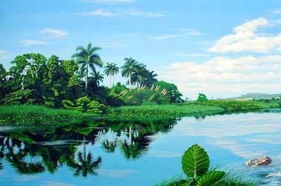 paisaje-al-oleo-con-rio-y-palmas