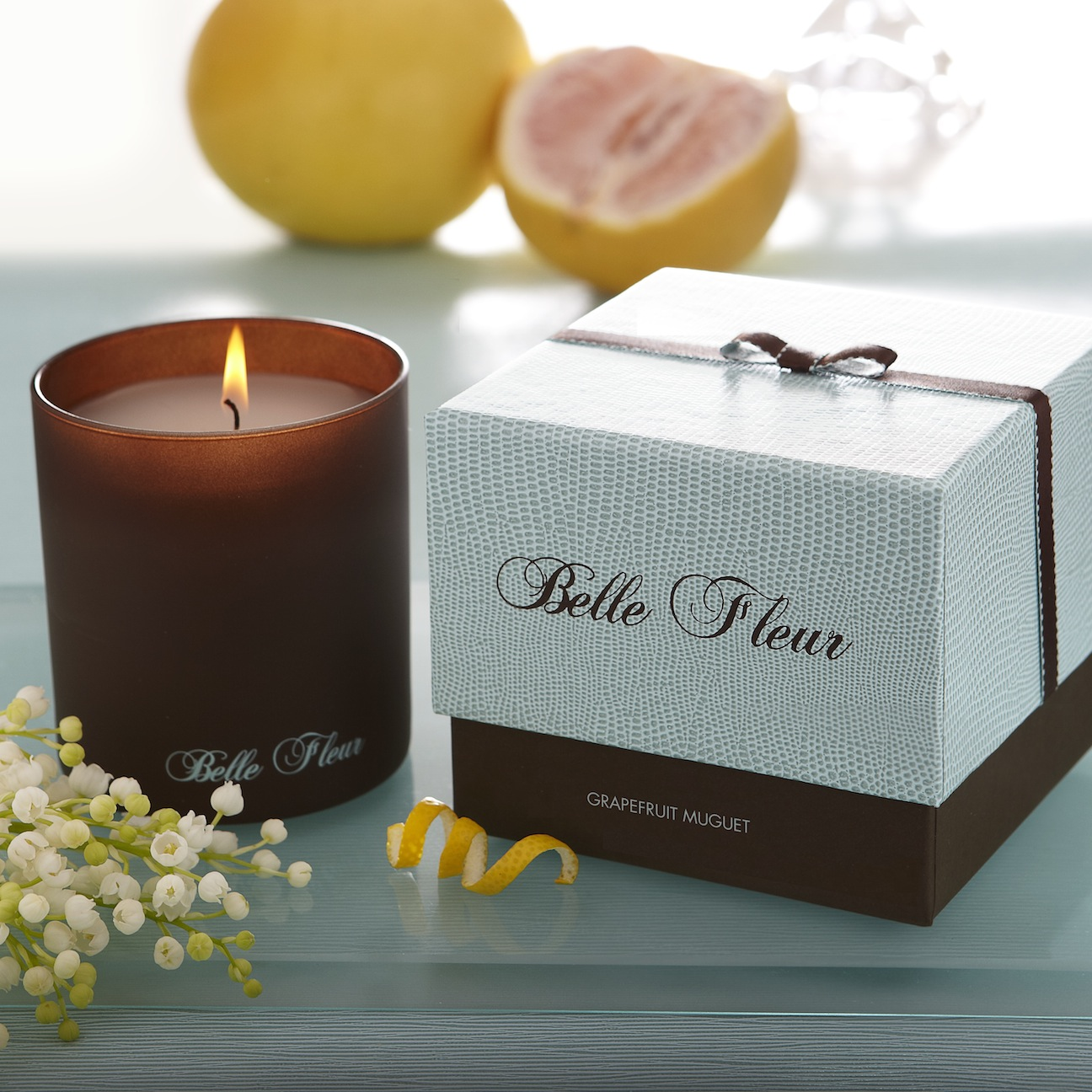 scent snob belle fleur grapefruit muguet candle. Black Bedroom Furniture Sets. Home Design Ideas