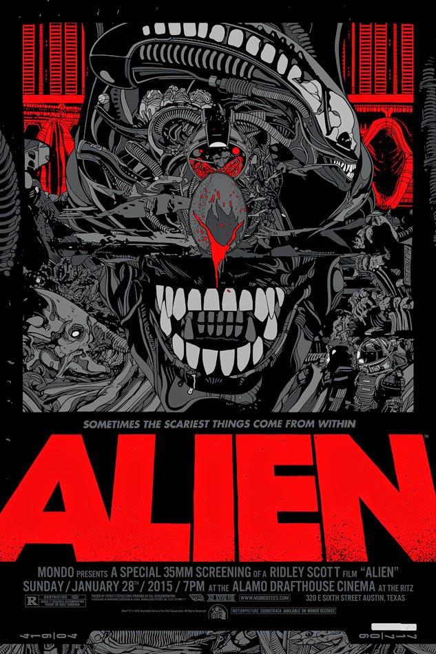 inside the rock poster frame blog tyler stout alien movie poster release from mondo - Movie Posters Framed