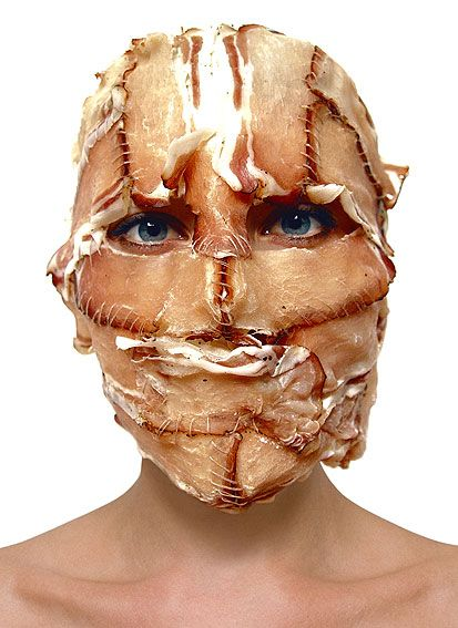 Barbora Bálková fotografia surreal máscaras Carne