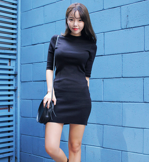 Slim Half Sleeve Dress