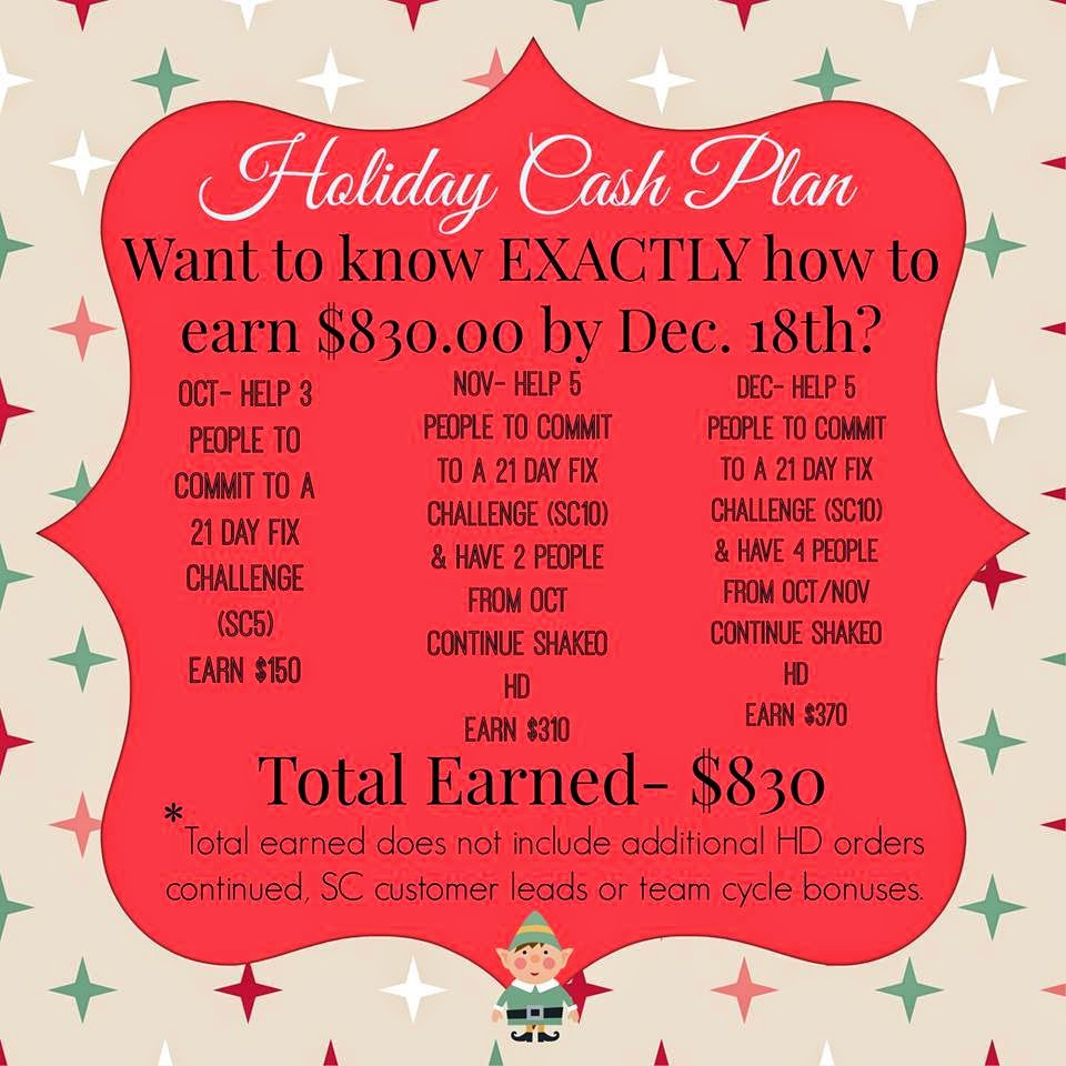 Earn holiday cash, cash for christmas, Dreams, goals, Beachbody Coach, Financial freedom, Julie Little, Healthy Fit Focused