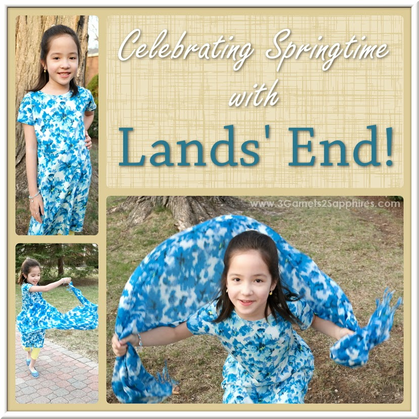 Girls fun and comfortable spring fashions from Lands' End