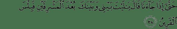 Surat Az-Zukhruf Ayat 38