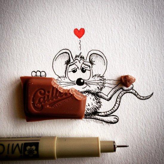 apredart instagram ilustrações divertidas ratos e realidade meigo engraçado