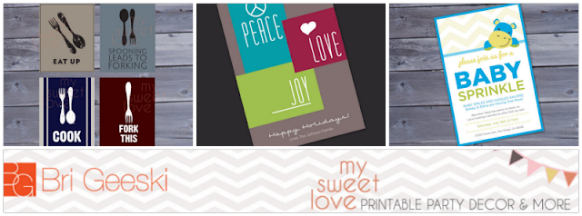 My Sweet Love by Bri Geeski, printables and more