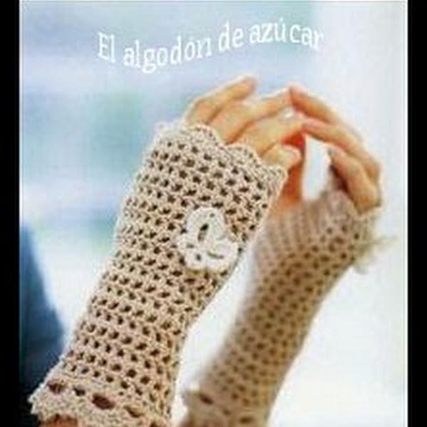 Patron guantes sin dedos a crochet - Imagui