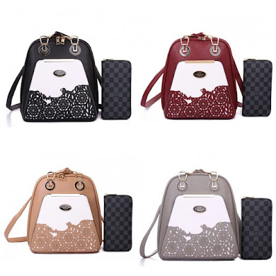 BACKPACK BAG GRED AAA - BLACK , GREY , KHAKI , MAROON
