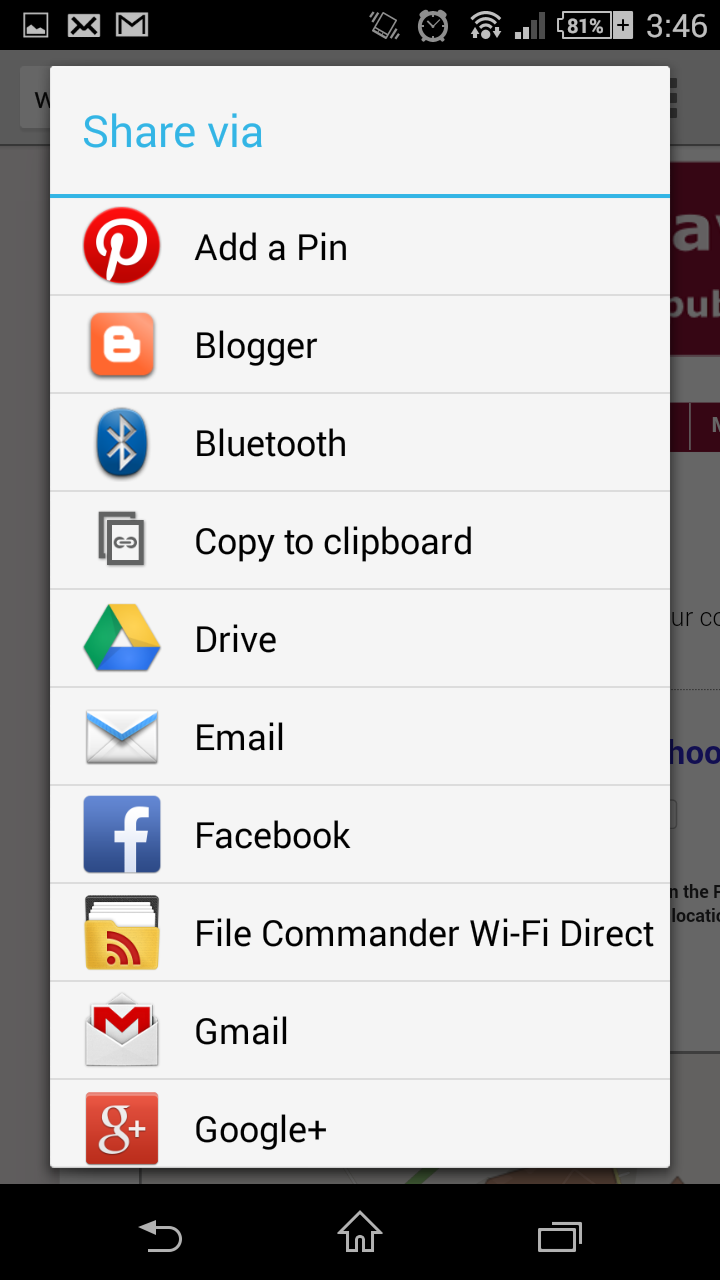 Electronic Clipboard Android Phone how to copy and paste a website address on an android smartphone step 2 clipboard