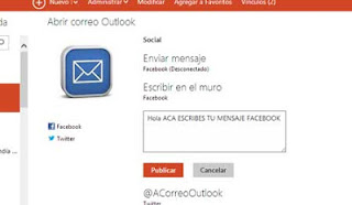 outlook correo facebook