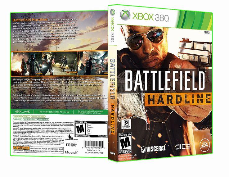 Capa Battlefield Hardline Xbox 360