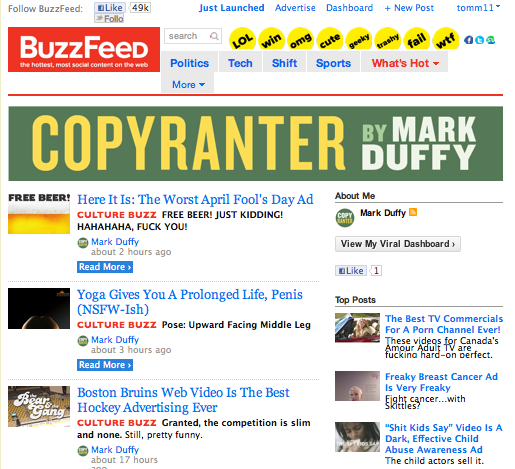 The Ethical Adman Copyranter Goes Upstream Joins Buzzfeed