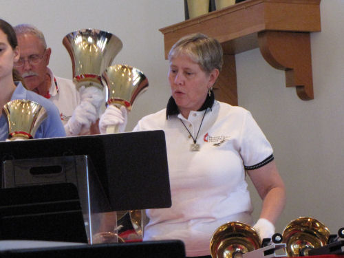 handbell players