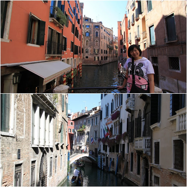 Bridges along the canal in Venice, Italy