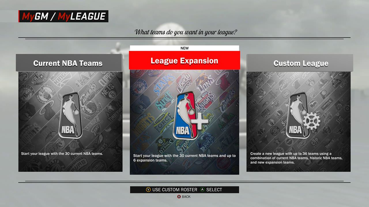NBA 2K17 Features Enhancements to MyGM & MyLEAGUE : League Expansion