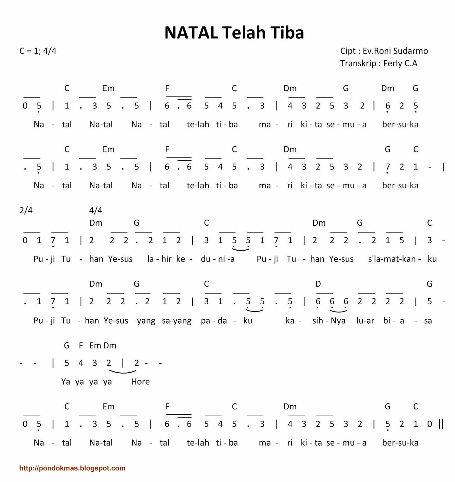 Chord Lagu Rohani Mudah Pondok