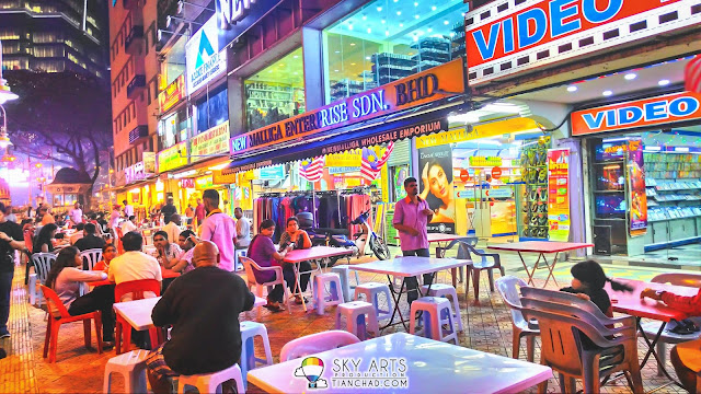 Dining area along the street @ Little India Brickfields KL (HDR Mode On)