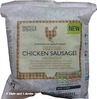 M&S chicken sausages