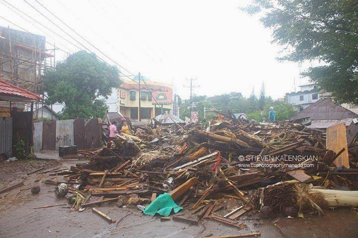 banjir bandang di kota manado