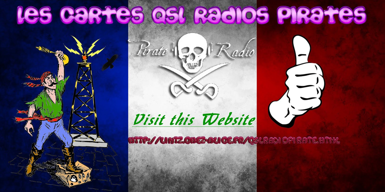 Joel Les Cartes QSL Radio Pirates