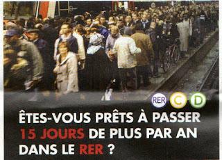 pétition contre le RER D omnibus