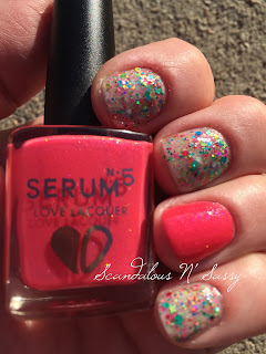 Serum No 5 Yule Light Up My Life with Raspberry Delight accent