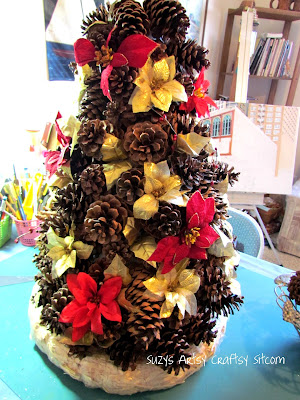 pinecone christmas tree centerpiece tutorial