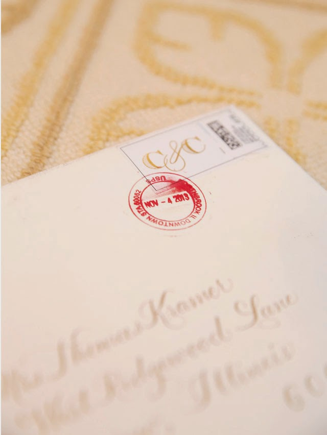 Monogram Wedding Stamp