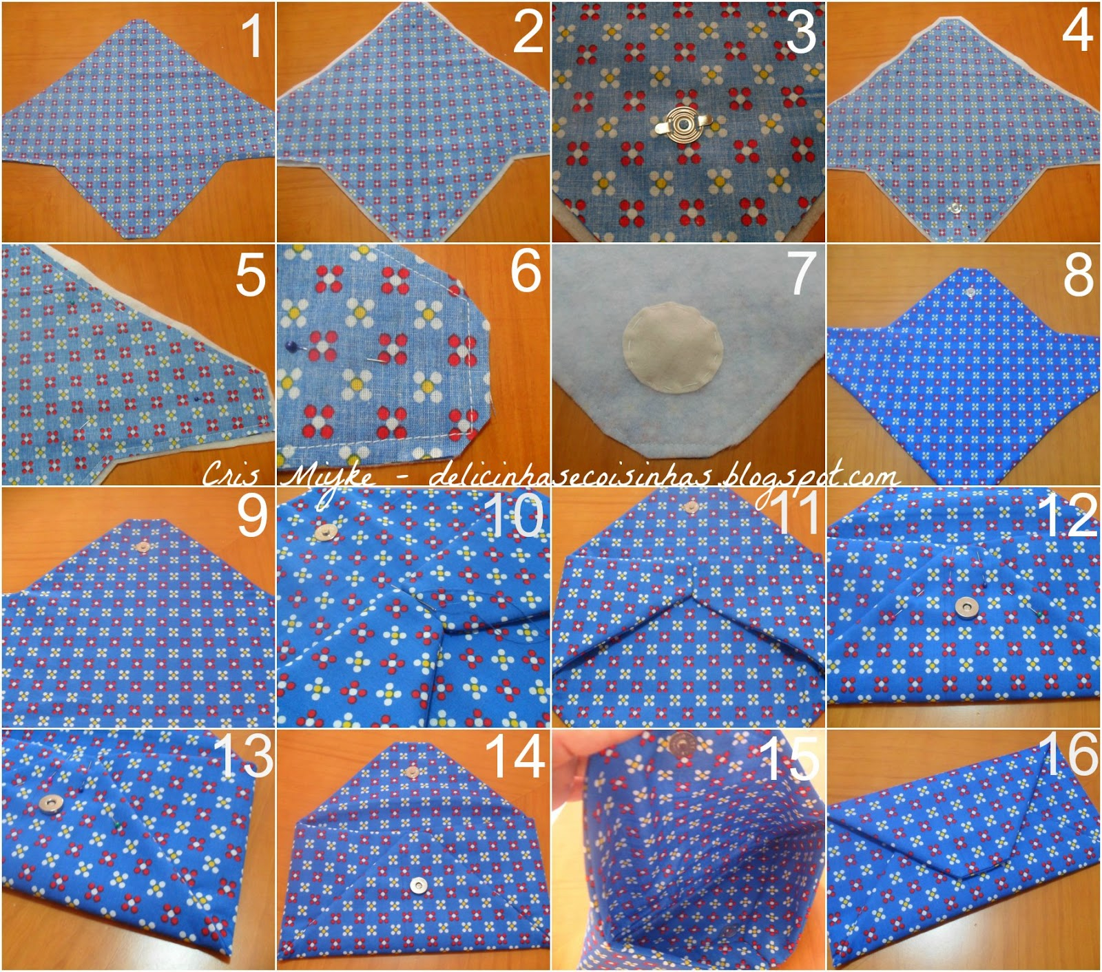 Bolsa De Tecido Facil : Carteira bolsa envelope pap