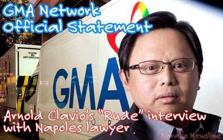 GMA Network Official Statement Arnold Clavio Interview with Napoles lawyer