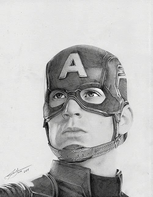 01-Chris-Evans-Captain-America-Julio-Lucas-Experimenting-with-Photo-Realistic-Drawings-www-designstack-co