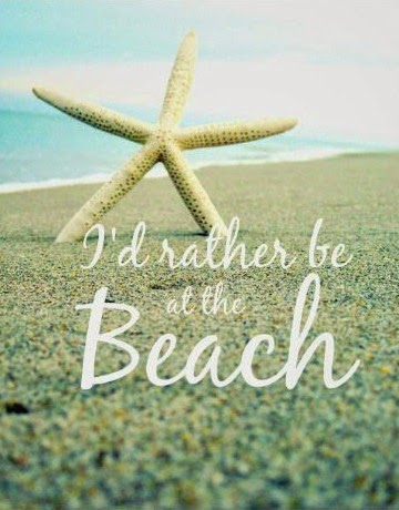 I'd rather be at the beach. Print.