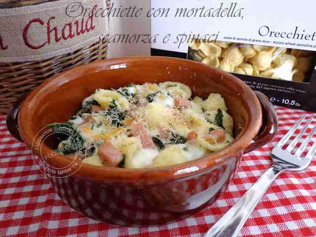 orecchiette_forno_spinaci_mortadella_scamorza_affumicata